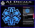 Tactical Medic EMT Decal Sticker Spartan Light Blue Vinyl 120x97