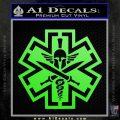 Tactical Medic EMT Decal Sticker Spartan Lime Green Vinyl 120x120