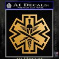 Tactical Medic EMT Decal Sticker Spartan Metallic Gold Vinyl 120x120