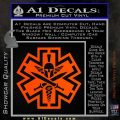 Tactical Medic EMT Decal Sticker Spartan Orange Vinyl Emblem 120x120