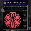Tactical Medic EMT Decal Sticker Spartan Pink Vinyl Emblem 120x120