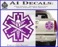 Tactical Medic EMT Decal Sticker Spartan Purple Vinyl 120x97