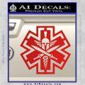 Tactical Medic EMT Decal Sticker Spartan Red Vinyl 120x120