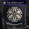 Tactical Medic EMT Decal Sticker Spartan Silver Vinyl 120x120