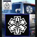 Tactical Medic EMT Decal Sticker Spartan White Emblem 120x120