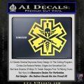 Tactical Medic EMT Decal Sticker Spartan Yelllow Vinyl 120x120