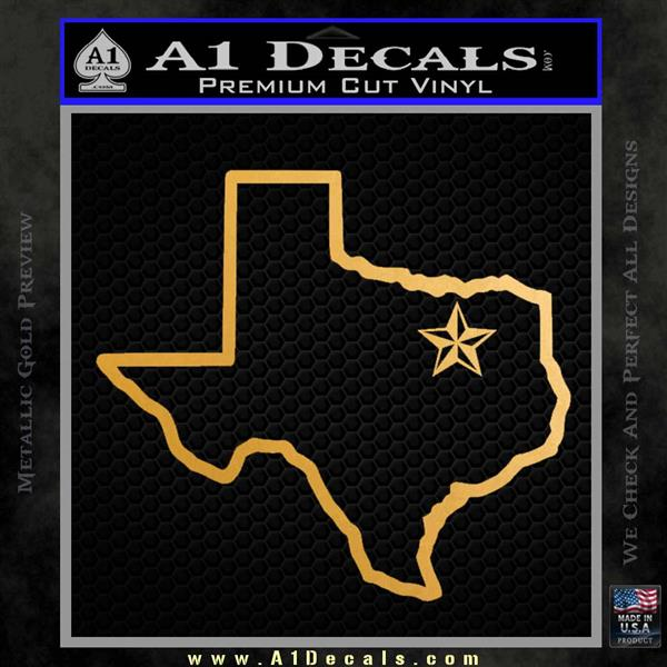 Texas Outline Decal Sticker Customizeable A1 Decals