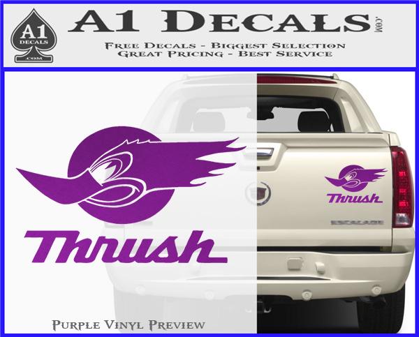 Thrush Exhaust Decal Sticker VZL » A1 Decals