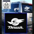 Thrush Exhaust Decal Sticker VZL White Emblem 120x120