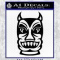 Tiki Decal Sticker Black D2 Vinyl Black 120x120