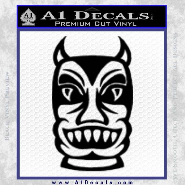 Tiki Decal Sticker Black D2 Vinyl Black