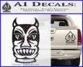 Tiki Decal Sticker D2 CFB Vinyl Black 120x97
