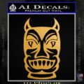 Tiki Decal Sticker D2 Gold Metallic Vinyl Black 120x120