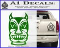 Tiki Decal Sticker D2 Green Vinyl Black 120x97