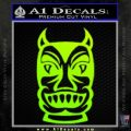 Tiki Decal Sticker D2 Neon Green Vinyl Black 120x120