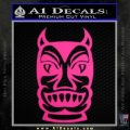 Tiki Decal Sticker D2 Neon Pink Vinyl Black 120x120