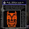 Tiki Decal Sticker D2 Orange Emblem Black 120x120
