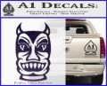 Tiki Decal Sticker D2 Purple Vinyl Black 120x97