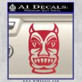 Tiki Decal Sticker D2 Red Vinyl Black 120x120
