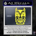 Tiki Decal Sticker D2 Yellow Vinyl Black 120x120