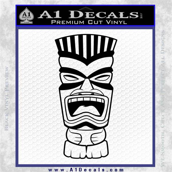 Tiki Head Decal Sticker D3 Black Logo Emblem