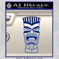 Tiki Head Decal Sticker D3 Blue Vinyl 120x120