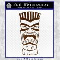 Tiki Head Decal Sticker D3 Brown Vinyl 120x120