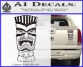 Tiki Head Decal Sticker D3 Carbon Fiber Black 120x97