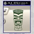 Tiki Head Decal Sticker D3 Dark Green Vinyl 120x120