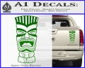Tiki Head Decal Sticker D3 Green Vinyl 120x97
