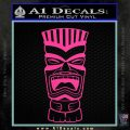 Tiki Head Decal Sticker D3 Hot Pink Vinyl 120x120