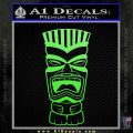 Tiki Head Decal Sticker D3 Lime Green Vinyl 120x120
