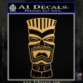 Tiki Head Decal Sticker D3 Metallic Gold Vinyl 120x120