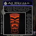 Tiki Head Decal Sticker D3 Orange Vinyl Emblem 120x120