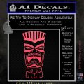 Tiki Head Decal Sticker D3 Pink Vinyl Emblem 120x120