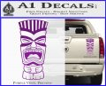 Tiki Head Decal Sticker D3 Purple Vinyl 120x97