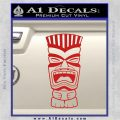 Tiki Head Decal Sticker D3 Red Vinyl 120x120