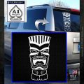 Tiki Head Decal Sticker D3 White Emblem 120x120
