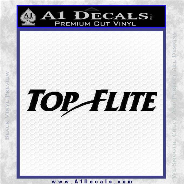 Top Flite Golf Decal Sticker Black Logo Emblem