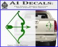 Traditional Bow Arrow Decal Sticker Green Vinyl 120x97