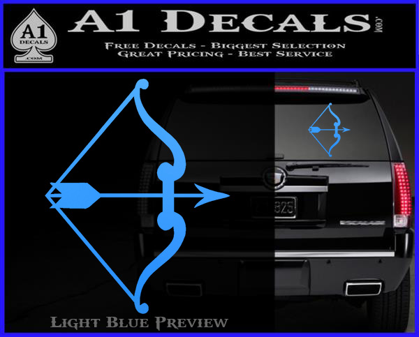 Traditional Bow Arrow Decal Sticker 187 A1 Decals
