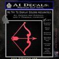Traditional Bow Arrow Decal Sticker Pink Vinyl Emblem 120x120