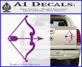 Traditional Bow Arrow Decal Sticker Purple Vinyl 120x97
