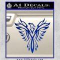 Tribal Eagle Decal Sticker D4 Blue Vinyl 120x120