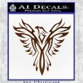 Tribal Eagle Decal Sticker D4 Brown Vinyl 120x120