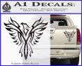 Tribal Eagle Decal Sticker D4 Carbon Fiber Black 120x97