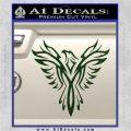 Tribal Eagle Decal Sticker D4 Dark Green Vinyl 120x120