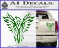 Tribal Eagle Decal Sticker D4 Green Vinyl 120x97