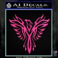 Tribal Eagle Decal Sticker D4 Hot Pink Vinyl 120x120