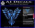 Tribal Eagle Decal Sticker D4 Light Blue Vinyl 120x97